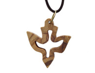Olive Wood Dove Pendant (1.2 inches in Height).
