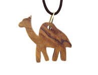 Olive Wood Camel Pendant. (0.8 inches in Height)