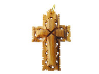 Olive Wood Cross Pendant.(1.5 inches in Height)