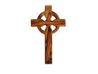 Celtic Olive Wood Cross 10 inches in Height