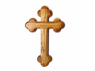 """Olive Wood """"The Cross Of The Fourteen Stations ™"""" (10 inches in Height)"""