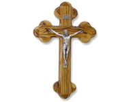 "Olive Wood ""The Cross Of The Fourteen Stations™"" W/Crucifix. (8 inches in Height)"