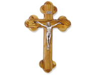 "Olive Wood ""The Cross Of The Fourteen Stations™"" W/Crucifix. (10 inches in Height)"