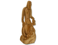 Olive Wood Silent Night ™ Sculpture (8 inches in Height)