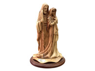 Olive Wood Holy Family Museum Quality Statue 6 inches in Width x 10 1/2 inches in Height