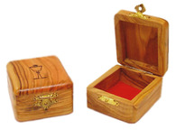 Olive Wood Box First Communion.(1.4 inches in Height)