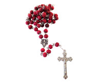 Jerusalem Rose Petals Rosary with Rosary box.