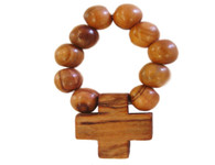 Olive Wood Finger Rosary.(2.5 inches in Length)