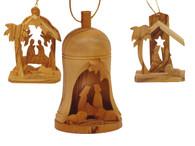 Olive Wood Set Of Three Ornament.