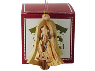 3-D Bell Nativity Ornament.