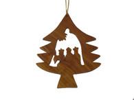 Olive Wood Wisemen Ornament.