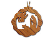 Olive Wood Good Shepherd Ornament (3 inches in Height)
