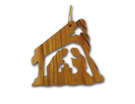Olive Wood Nativity Ornament (3 inches in Height)