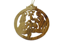 Olive Wood Nativity Manger Ornament (3.5 inches in Height)