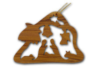 Olive Wood Christmas House Ornament (3 inches in Height)
