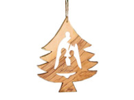Olive Wood Christmas Tree Ornament (4.5 inches in Height)