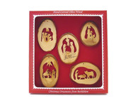 Silent Night Collection: A set of five hand-carved ornaments boxed