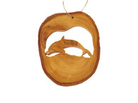 Olive Wood Ornament - Dolphin