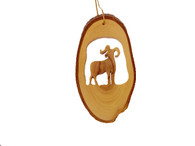 Olive Wood Ornament - Big Horn Sheep