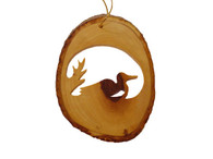 Olive Wood Ornament - Loon