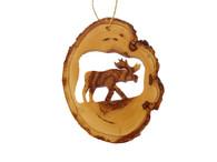Olive Wood Ornament Moose