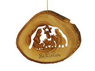 Nativity Bark Ornament
