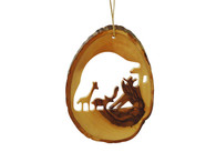 Olive Wood The Ascend To The Ark Ornament.