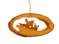 Olive Wood Noah's Ark Ornament.