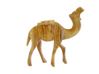 Olive Wood Camel With Stick. (5 inches in Height)