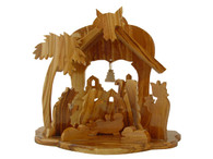 Olive Wood Christmas House 6 inches in Height.