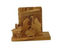 Olive Wood Nativity Set- Removable Figures 5 pcs W/Stable