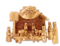 Olive Wood Silent Night Musical Nativity (13 Pieces Set).