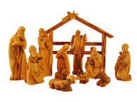 Nativity Set with Wisemen Gifts- Gold, Frankincense and Myrrh -13pcs