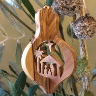 Olive Wood 3-D Nativity Ornament Large