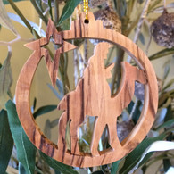 Olive Wood King on Camel Ornament