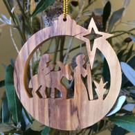 Olive Wood Mary & Jesus Ornament