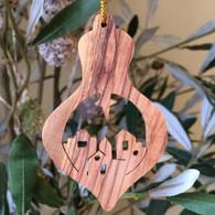 Olive Wood Village of Bethlehem Ornament