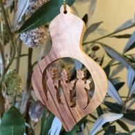 Olive Wood Three Kings Ornament