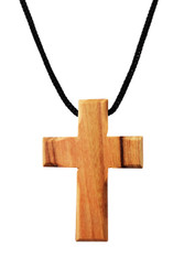 Olive Wood Cross Pendant. (1.5 inches Height) WA-37