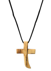 Olive Wood Cross Pendant. (1.5 inches Height) WA-39