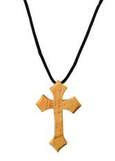 Olive Wood Cross Pendant. (1.5 inches Height) WA-40