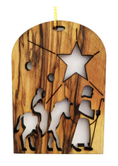 Bethlehem Olive Wood Flight into Egypt Ornament (LZO-111)