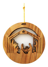 Bethlehem Olive Wood Nativity Ornament (LZO-123)