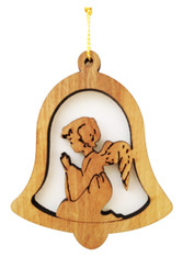 Bethlehem Olive Wood Angel Ornament  (LZO-127)