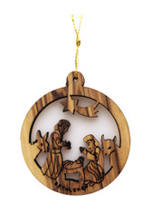 Bethlehem Olive Wood Nativity Ornament (LZO-137)