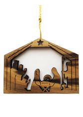 Bethlehem Olive Wood Three Kings Nativity Ornament (LZO-138)