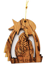 Bethlehem Olive Wood Nativity Ornament (LZO-141)