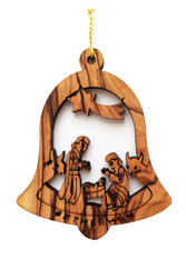 Bethlehem Olive Wood Nativity Ornament (LZO-142)