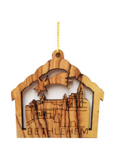 Olive Wood Bethlehem Ornament (LZO-150)