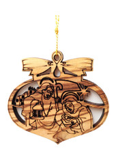 Bethlehem Olive Wood Nativity Ornament (LZO-151)